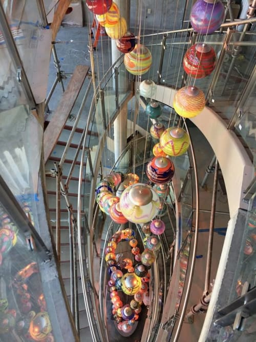 Sculptures by Rock Cottage Glassworks seen at Children's Mercy Hospital Kansas, Overland Park - Glassblowing Art