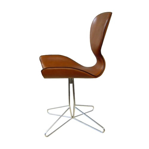 Awe Inspiring Hand Stitched Saddle Leather Office Swivel Chair By Koi Caraccident5 Cool Chair Designs And Ideas Caraccident5Info