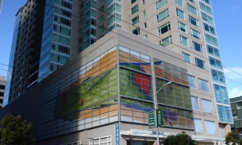 Murals by Dorothy Lenehan seen at Soma Grand, San Francisco - Realm