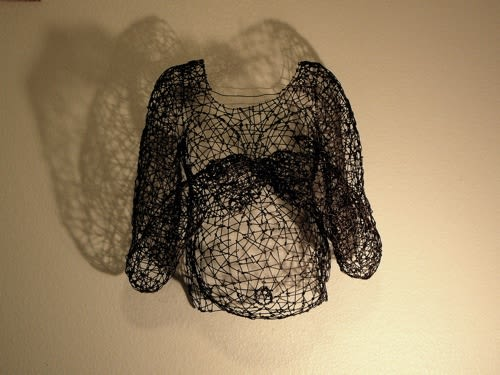 Sculptures by Kristine Mays seen at UCSF Women's Health Center, San Francisco - Wire Sculpture