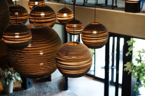 Pendants by Graypants seen at Van der Valk Hotel Apeldoorn, Apeldoorn - Scraplights Moons