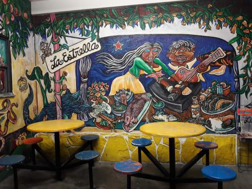 Murals by Raul Baltazar seen at La Estrella Restaurant, Highland Park, CA, Los Angeles - Life