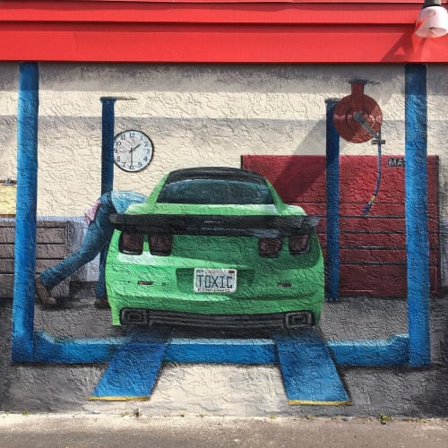 Murals by Hanna's Murals seen at WOW Auto Care, Poway - Mural