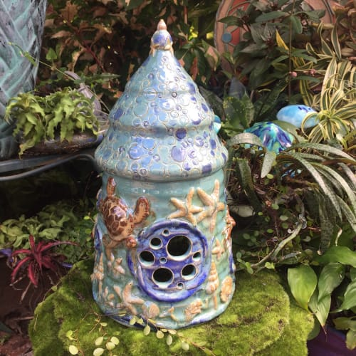 Vases & Vessels by Queen Bee Pottery seen at Queen Bee Pottery Studio, Coconut Creek - Ocean Fairy House
