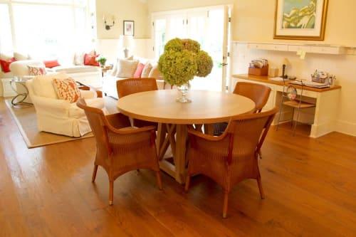 Tables by Keefrider Custom Furniture seen at Private Residence, Santa Barbara - Crossbar Table