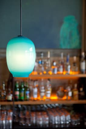 Pendants by Lee Miltier seen at Comal, Berkeley - Turquoise Blue Glass Pendants