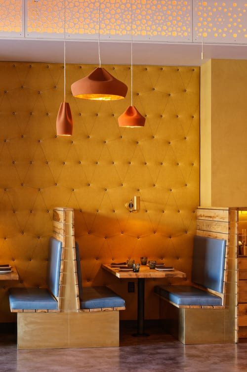 Wall Treatments by Venezia Upholstery seen at Bellota, San Francisco - Leather Walls