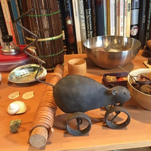 Sculptures by Sylvie Rosenthal seen at Private Residence, Oakland - Mouse on Wheels