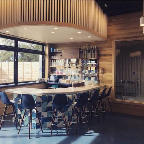 Interior Design by McCray & Co. seen at Goodnight Loving Vodka Garden & Tasting Room, Austin - Interior Design