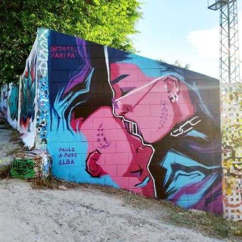 "Painted Wall ""Unified"" | Murals by Fabifa | Montjuïc in Barcelona"