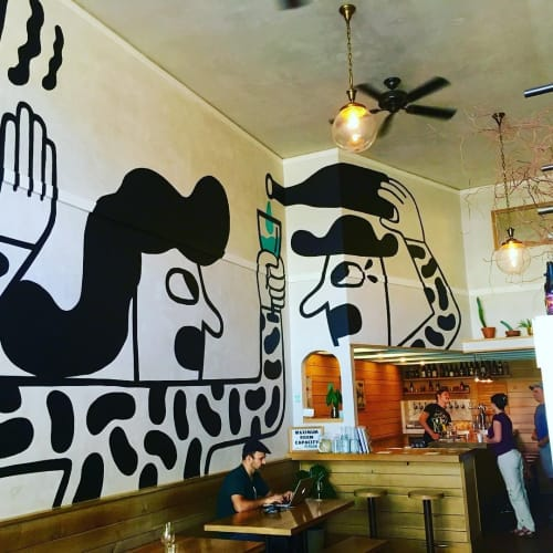 Murals by Keith Shore (Keithashore) seen at Mikkeller Oakland, Oakland - Henry & Sally Mural