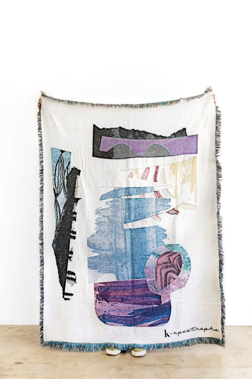 "Linens & Bedding by K'era Morgan seen at Creator's Studio, Los Angeles - ""Residual"" Throw Blanket"