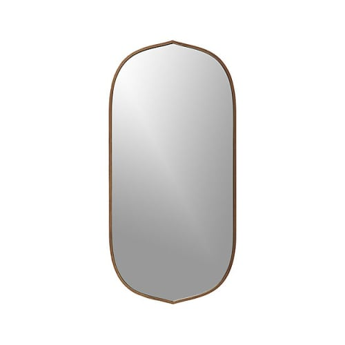 Paintings by Crate & Barrel seen at Petit Crenn, San Francisco - Penarth Walnut Oval Wall Mirror