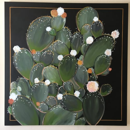 Paintings by Lauren Williams at Private Residence, Frisco - Prickly Pear