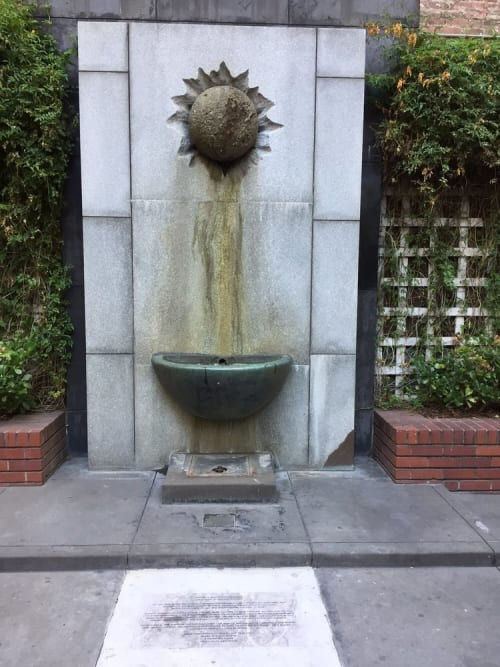 Public Sculptures by Pepo Pichler seen at Empire Park, San Francisco - Fountain Sculpture