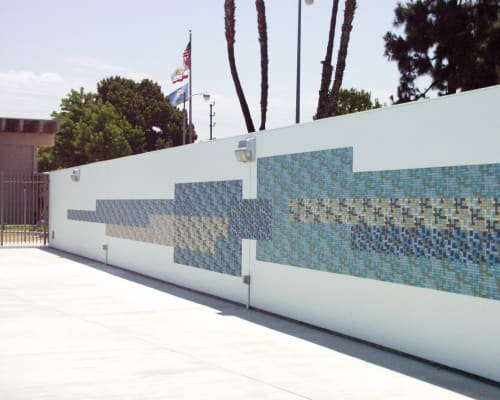 Public Mosaics by Paul Tzanetopoulos seen at Mary Bethune Park, Los Angeles - Different Strokes