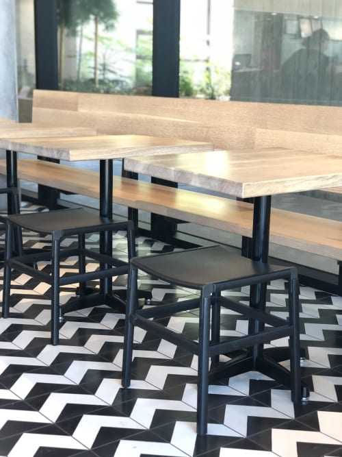 Furniture by Thamer Design and Woodworking seen at Noon All Day, San Francisco - Woodwork
