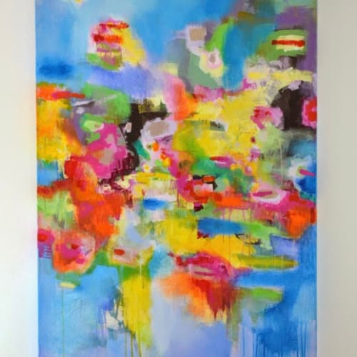 Paintings by Marquin Designs seen at Private Residence, Dallas - Abstract Painting