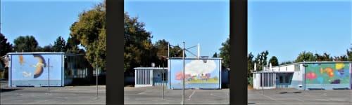 Murals by Dmitry Mosaics seen at Cherryland Elementary School, Hayward, CA, Hayward - Cherry Land