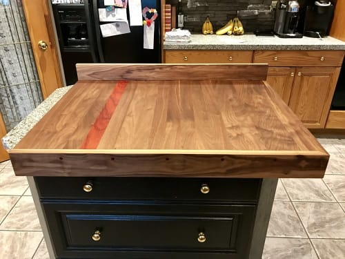 Furniture by Cask Woodworking seen at Private Residence, Sherwood Park - Custom Counter Top