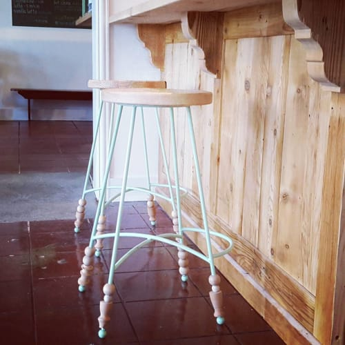 Chairs by Objects for Others seen at Kitchen Mouse, Los Angeles - Custom Bar Stools