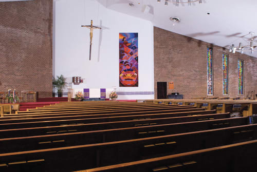 Wall Hangings by Ulrika Leander at St. Joseph Catholic Church, Downingtown - Mary's Gift