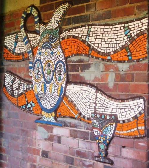 Public Mosaics by Mango Mosaics seen at Ruskin Glass Centre, Stourbridge - International Festival of Glass Ruskin Glass Centre