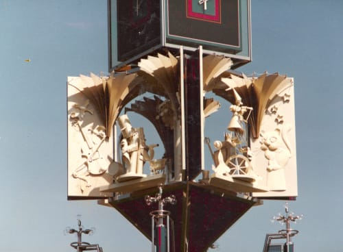 Public Sculptures by Keiko Kubota-Miura seen at Seibuen Amusement Park, Tokorozawa-shi - Clock Tower