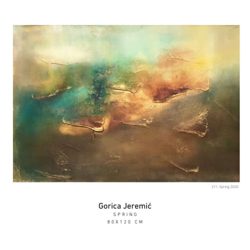 Paintings by Gorica Jeremic seen at Private Residence, Vienna - Spring Abstract Painting