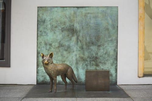 "Sculptures by Mary Chomenko Hinckley seen at One Colorado, Old Pasadena, Old Pasadena - """"Pasadena Coyote"""""