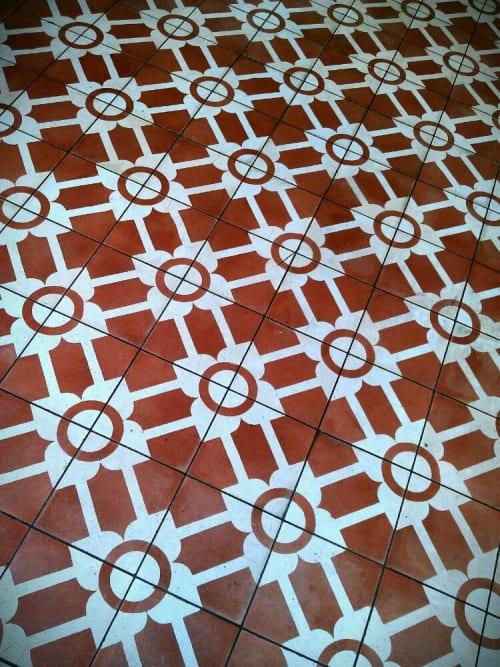 Tiles by Rios Clementi Hale Studios seen at Cafe Gratitude Larchmont, Los Angeles - Concrete Floor Tile