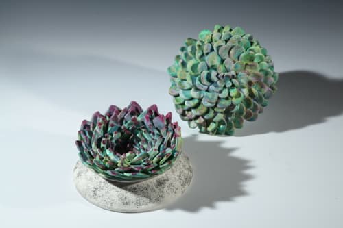 Tableware by Shelley Simon seen at Ruby's Clay Studio & Gallery, San Francisco - Succuents
