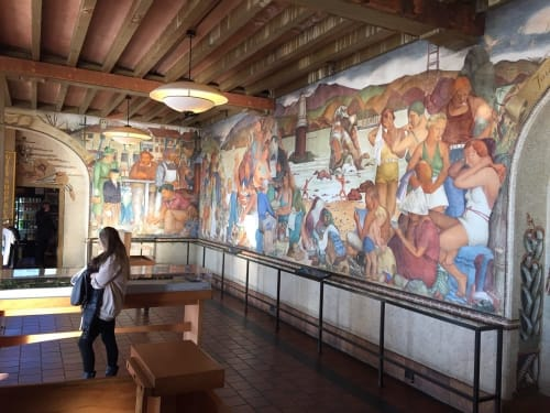 Murals by Lucien Labaudt seen at Beach Chalet Brewery & Restaurant, San Francisco - Beach Chalet
