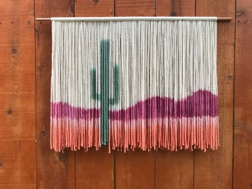 Wall Hangings by The Dancing Tapestry seen at Private Residence - Cactus Tapestry
