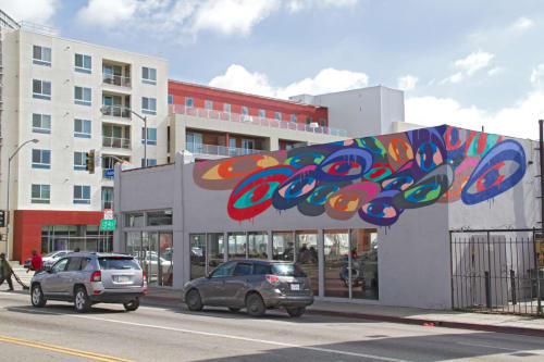 Murals by The Art of Chase seen at Trendsetters Barbershop, West Hollywood - Eye Mural