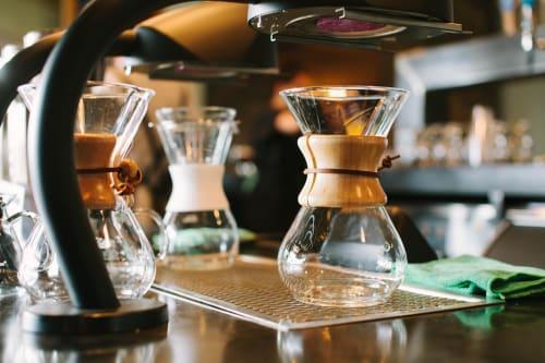 Tableware by Chemex seen at Cuvee Coffee Bar, Austin - Five Cup Handblown Chemex