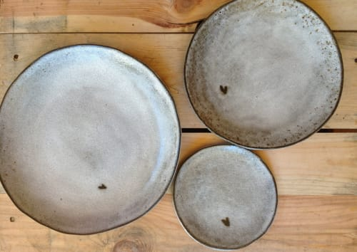 Ceramic Plates by Akiko's Pottery seen at Mourad, San Francisco - Handmade Pottery