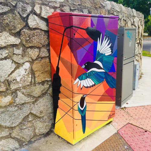 Street Murals by Dayana Bautista seen at Johnstown Road, Dublin - 'Sunrise Joy'