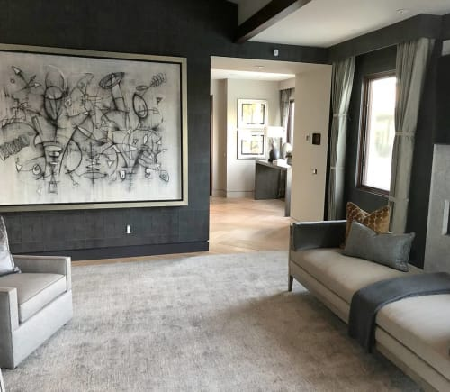 Paintings by Bruce Rubenstein seen at Private Residence, Los Angeles - The Girl from Ipanema