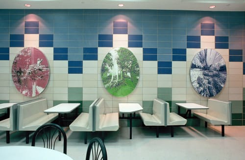 Murals by Cadence Giersbach seen at Intermediate School 230, Queens, NY, Queens - Garden In A School