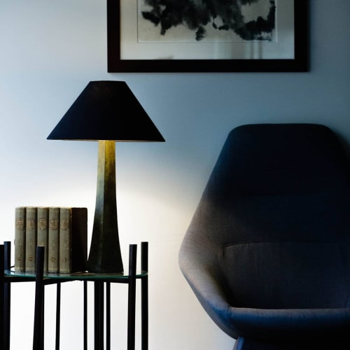 Lamps by Lawrence & Scott seen at Private Residence, Seattle - Somand Table Lamp