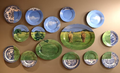 Murals by Brandin Hurley Designs seen at Somerset, Chicago - Murals on Plates