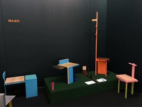 Chairs by Malcolm Majer seen at Piers 92/94, New York - Architectural Digest Show Booth