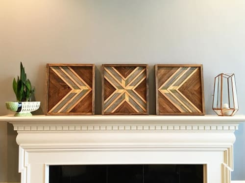 Wall Hangings by Sweet Home Wiscago at Roscoe Village / Lakeview, Chicago - Trilogy