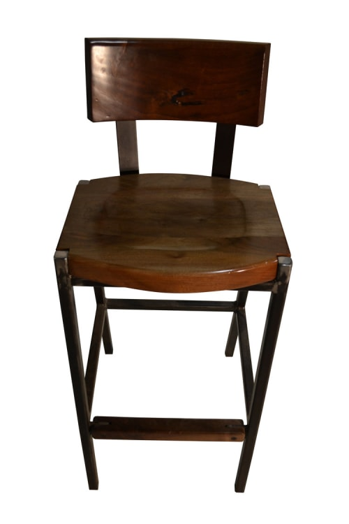 Chairs by TRUE Handcrafted seen at The Covington Restaurant, Edgartown - The Covington Stool