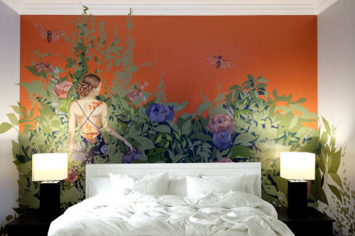 Murals by Brandin Hurley Designs seen at Hotel Chicago West Loop, Chicago - Mural