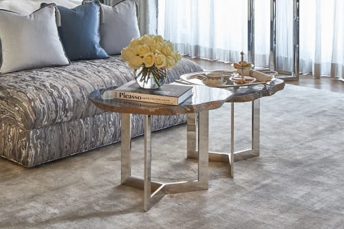 Tables by Ron Dier Design seen at 76th Street, Queens - Nested Agate Tables