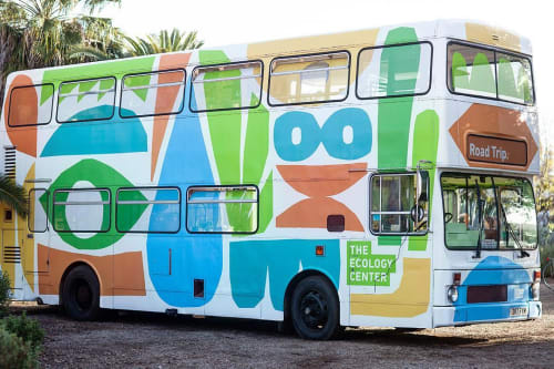 "Murals by Cody Hudson seen at The Ecology Center, San Juan Capistrano - ""Road Trip"" bus"