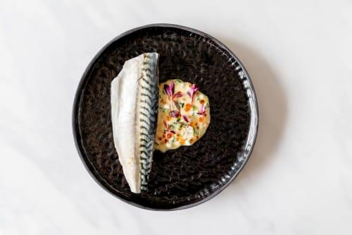 Ceramic Plates by Ceramicsbytiz seen at Private Residence, London - Black dinner plate