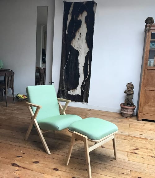 "Chairs by Studio Lorier seen at Private Residence, Rotterdam - ""Hybrid Chair & Footstool"""